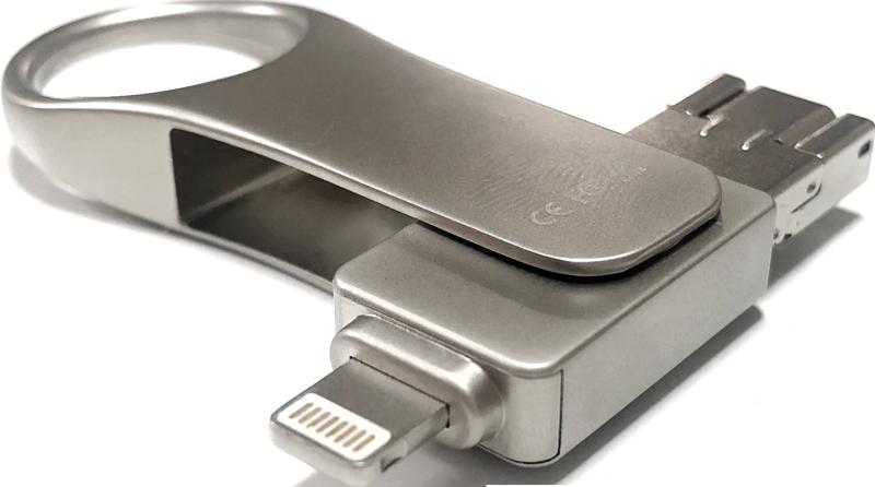 PCとスマホに接続できるUSBメモリ(フラッシュフラッシュドライブ、フラッシュメモリ)